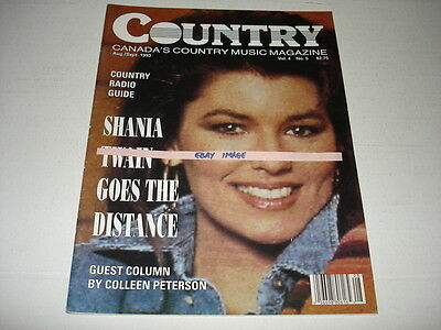 Canadian COUNTRY magazine August 1993 SHANIA TWAIN on cover EXTREMELY RARE