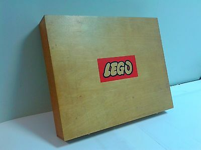 Vintage LEGO wooden box 1960-70's without bricks in nice condition RARE