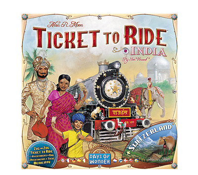 New Ticket To Ride Switzerland India Expansion Map Collection Board Game Daily
