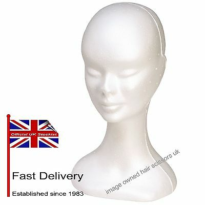 FEMALE Polystyrene Head Wig Holder Mannequin Ladies Good Quality Stand