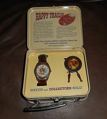NIB  Limited Edition Fossil Roy Rogers & Dale Evans Watch & Bolo