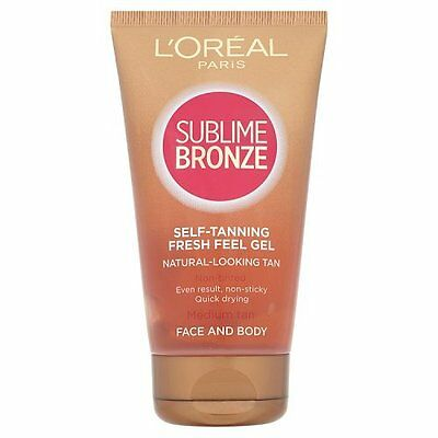 L'oreal Sublime Bronze Self Tanning Fresh Feel Gel Quick Drying 150ml