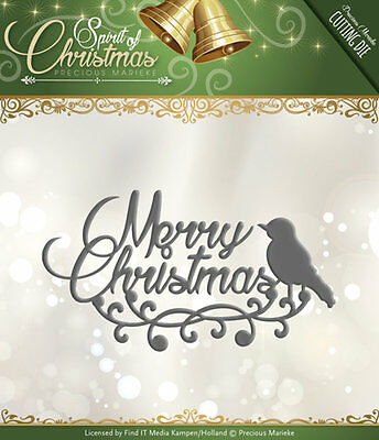 Punch template - Merry Christmas - Text template by Precious Marieke (PM10073)