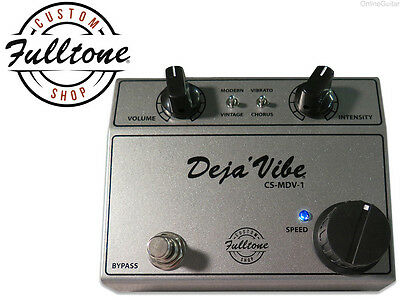 New Custom Shop Fulltone Cs-Mdv-1 Mini Deja Vibe Vibrato/ Chorus Pedal 0$ Us S&h