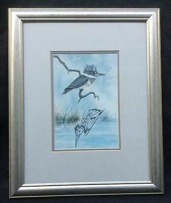 Sue Coleman Kingfisher framed print