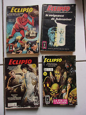 lot 6 petits formats ECLIPSO ( Aredit ) 19 20 35 47 ( 1972 à 1974)
