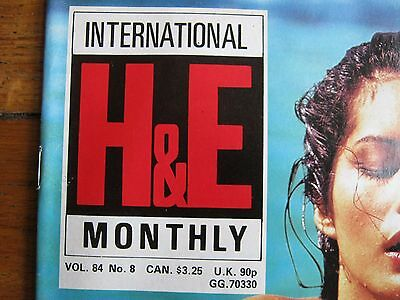 Health & Efficiency H&e Magazine 84/8  August 1984  Perfect Condition