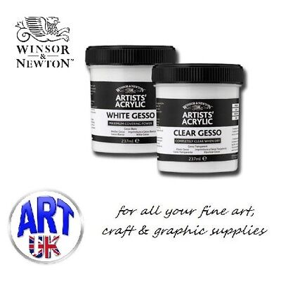 Winsor & Newton professional artists GESSO PRIMER acrylic/oil paint medium clear