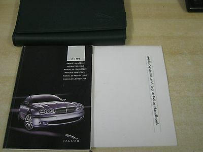 JAGUAR X-TYPE OWNERS MANUAL HANDBOOK  2001-2006  AND WALLET and radio book