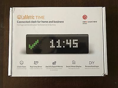 LaMetric Time Wi-Fi Clock with Apps