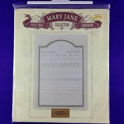"Vintage Counted Thread Embroidery Kit ""Aventurine"" by Mary Jane Collection"