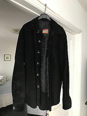 Bwl Malibu Bill Wall Leather Custom Suede Shirt Jacket With Sterling Buttons