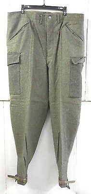 """Unissued Wwii (Dated 194O) Swedish M39 Army Wool Field Trousers (32"""" Waist)"""