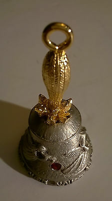 "Pewter 2"" JULY RUBY Birthstone Guardian Angel Bell"