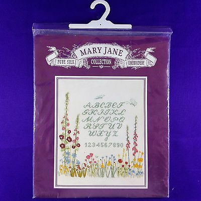 "Vintage Pure Silk Ribbon Embroidery Kit ""Garden Sampler"" by Mary Jane Collection"