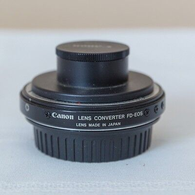 Canon LENS MOUNT CONVERTER FD-EOS with Cap From Japan #10409