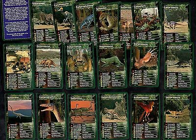 Dinosaurs Full Set Of 30 Factual Trading Cards - Game In Box Prehistoric Animals