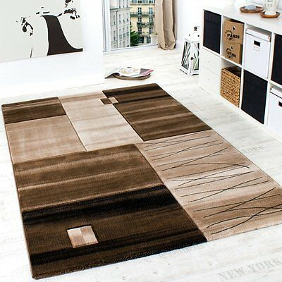 Brown and Beige Rug Patterned Cream Soft Thick for Bedroom Large Small Area Mats