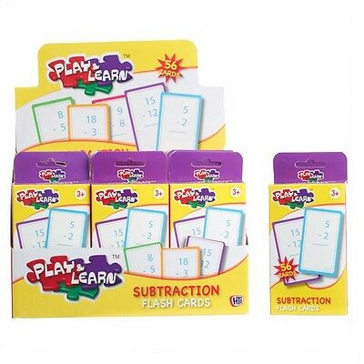 KIDS FLASH CARDS ADDITION MULTIPLICATION & SUBTRACTION Children Play Learn Toys
