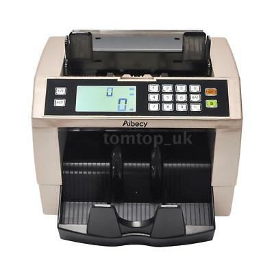 Money Bill Counter Cash Banknote Mix Counting Machine UV&MG Counterfeit Detector