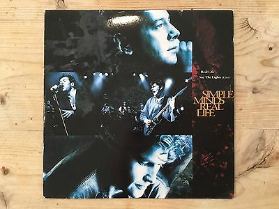 "SIMPLE MINDS 7"" SINGLE REAL LIFE & SEE THE LIGHTS (Live)  VIRGIN VS1382"