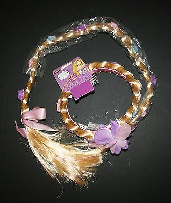 New Disney Store Rapunzel Braid Hair Accessory Costume Party Halloween NWT 3 Up
