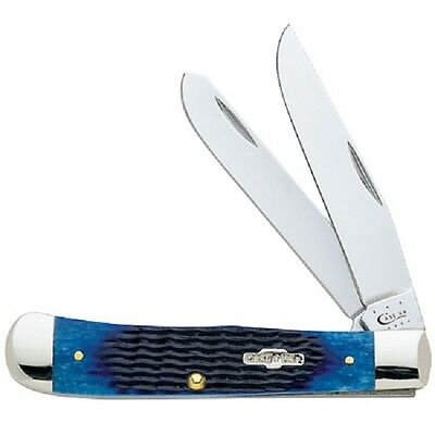 Case Xx Knives Navy Blue Bone Trapper Knife New #2800 Usa Made Sale Price