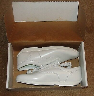 Drillmaster marching band shoes, white, NOS, IOB, 11W, made in Miami