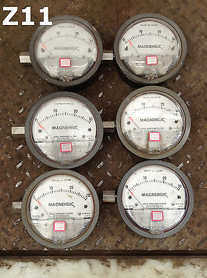 """Dwyer Magnehelic 0-30"""" Differential Pressure Gage 15PSI -65-140F- Lot of 6"""