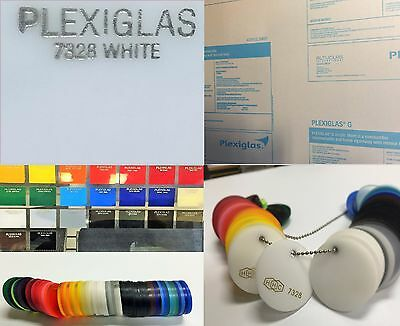 .375 #7328 Translucent Bright White Cast Acrylic Sheet 12 x 12 (8 Pack)