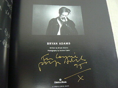 Bryan Adams Book, Signed 1995 First Edition, Behind the Scenes His Story Picture