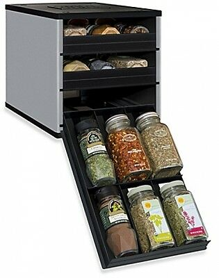 YouCopia multi spice season rack kitchen cooking foods fits in cabinets