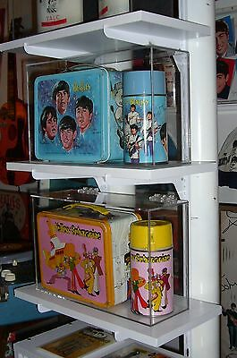 Custom Display Case for Beatles Blue Lunch Box and Thermos