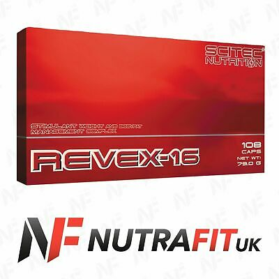 SCITEC NUTRITION REVEX-16 108 caps fat burner weight loss UK APPROVED