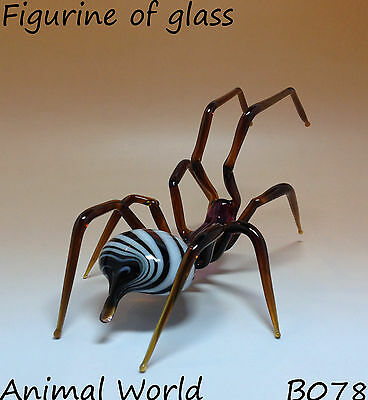 Figurine Spider Blown glass Souvenirs from Russia High Quality Spider with twirl