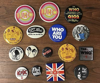 The Who Large Lot of Pin Back Buttons