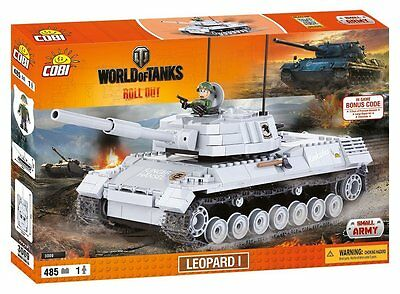 COBI 3009 World of Tanks deutscher Panzer Leopard 1 + WoT Bonuscode - Bausteine