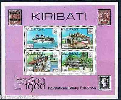 Kiribati 1980 SG MS 116  Sc 355a MNH  Stamp Exhibition  combined postage