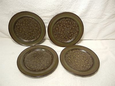 "Lot Set of 4 Francisan Maderia Madeira 8.5"" Salad Dessert Plates Excellent Shape"