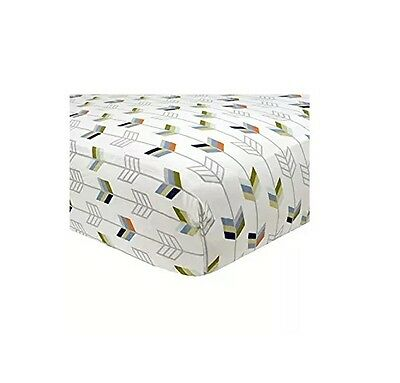 Just Born Adventure Collection Arrows Fitted Crib Sheet BABY SHOWER GIFT