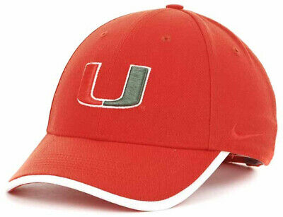 info for 343d5 57175 Nike Miami Hurricanes U Dri-Fit Legacy 91  12 Coaches Sideline Strapback  Cap Hat