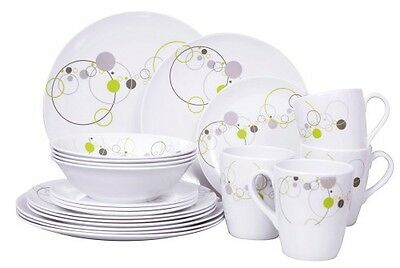 OZTRAIL 20 Piece Melamine Dinner Set Camp Outdoor Caravan - OCP-MDS20-D