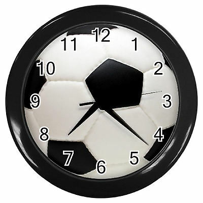 Soccer / Soccerball PRINT Home Decor Kitchen / Lounge / Bedroom Wall Clock
