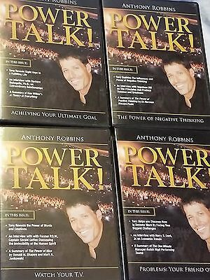 Lot of 4 Anthony Robbins POWER TALK CD Sets - 9 CDs In All Harry Dent, DeAngelis