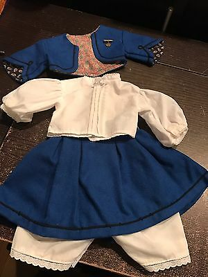 Vintage Pre-Mattel American Girl Addy School Suit And Blouse + Undergarments