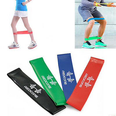 4pcs Resistance Loop Band Exercise Yoga Bands Rubber Fitness Training Strength G