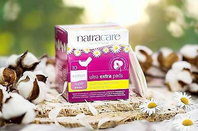 Natracare Ultra Extra Pads with Wings - Super - 10 count