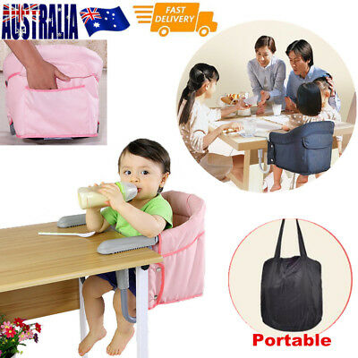 Childcare Hook On Table Harness Feeding Portable Baby Booster High Chair Seat OZ