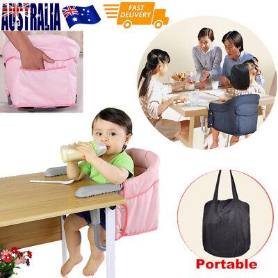 Portable Hook On High Chair Safe Harness Feeding highchair Travel Booster Seat