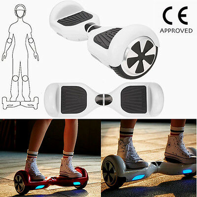 6.5 pouces Scooter électrique Hoverboard 2 roues Self Balancing Blanc Neuf